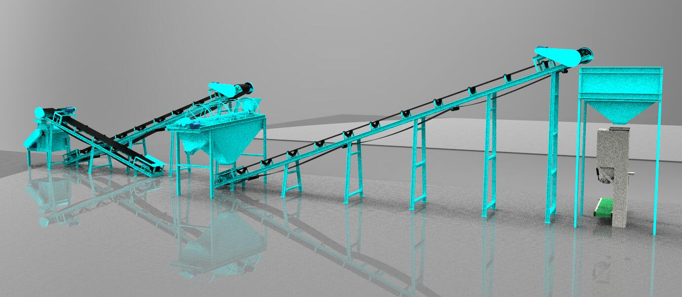Powder Compost Fertilizer Production Line