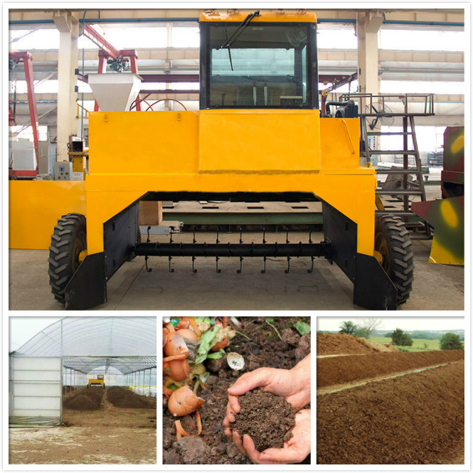 Hydraulic Auxiliary Wheel Type Compost Turner
