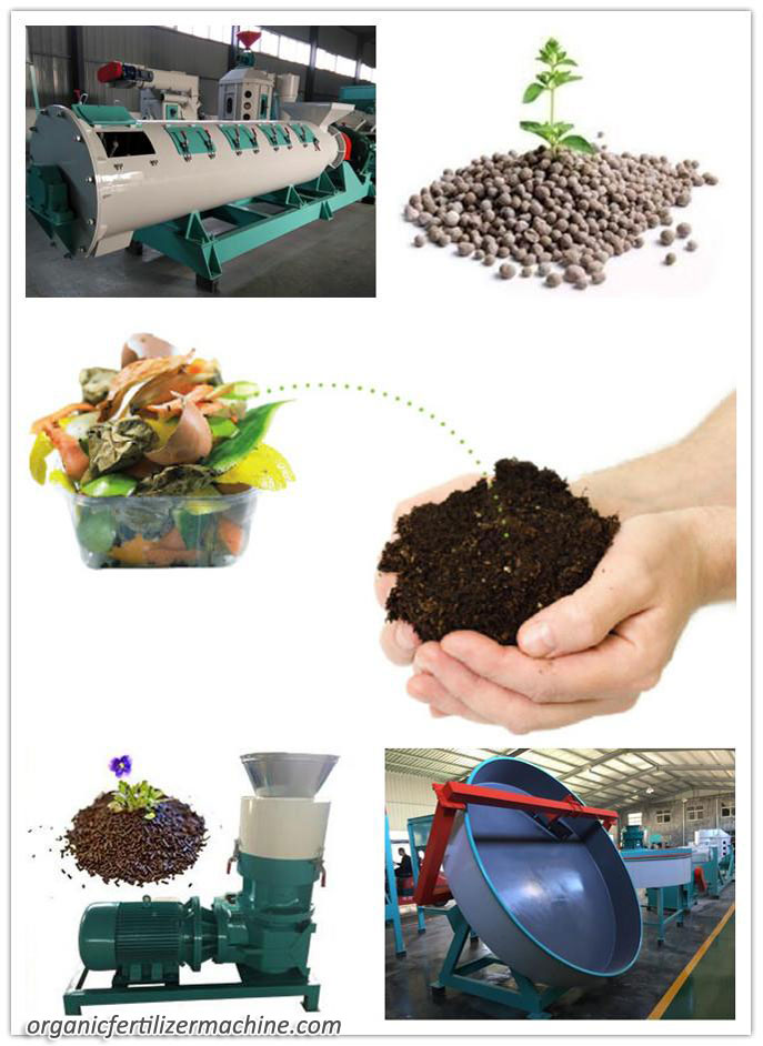 Organic Fertilizer Granulator for Recycling Organic Wastes | Granulating Organic Waste