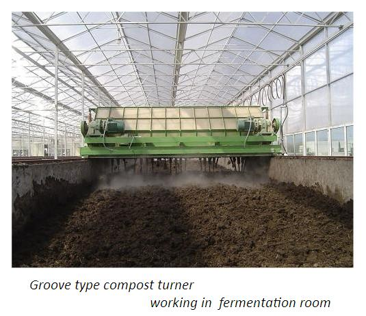 groove type compost turner