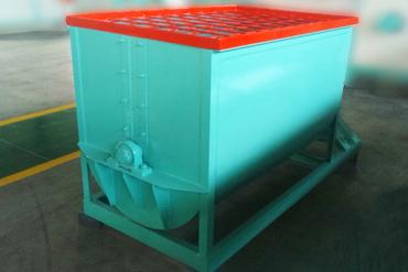 horizontal organic fertilizer mixer