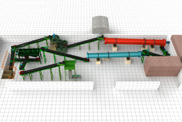 pellet production line for organic fertilizer